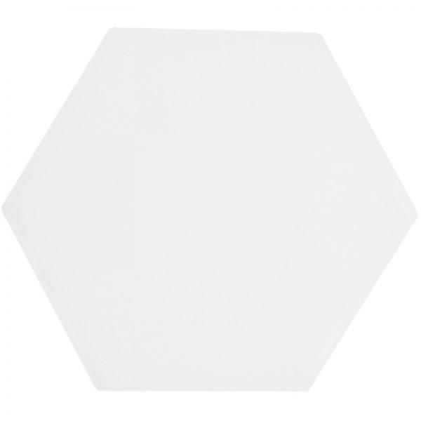 White Glossy Hexagon-Edit